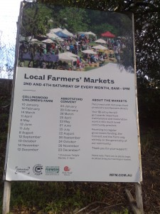 Abbotsford Convent Farmers markets Dates 2015