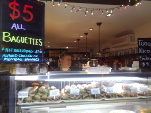 Degraves Street baguette stand