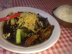 Kraken and Crew Sweet bea n stewed eggplant