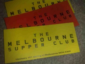 The Melbourne Supper Club