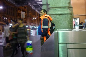 infoguy homelss man melbourne degraves street subway