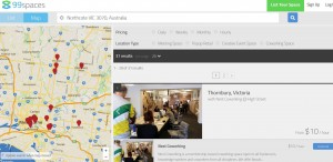 lots of handy filter options to find exactly the coworking or popup shop facility you need, on the terms you require.
