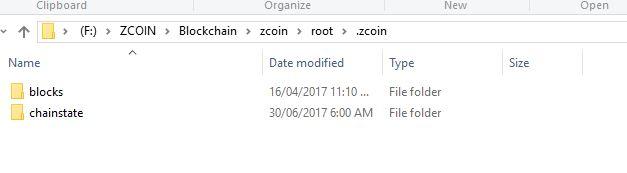 Znode_zcoin_QT_wallet_sync_blockchain_zipfolder_contents_blocks_chainstate