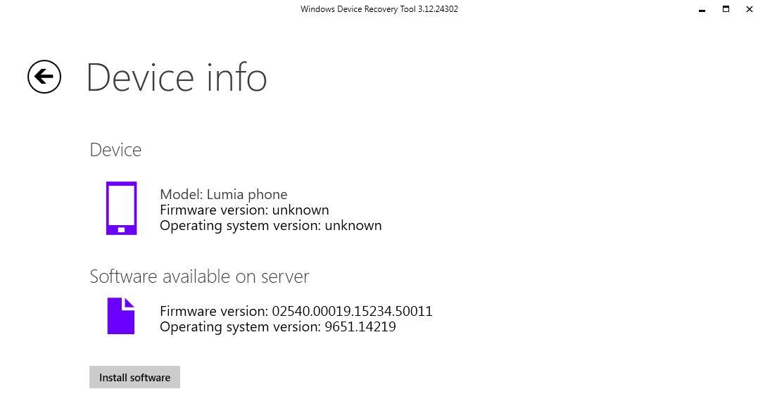 Nokia Lumia Windows Device recovery tool Microsoft official