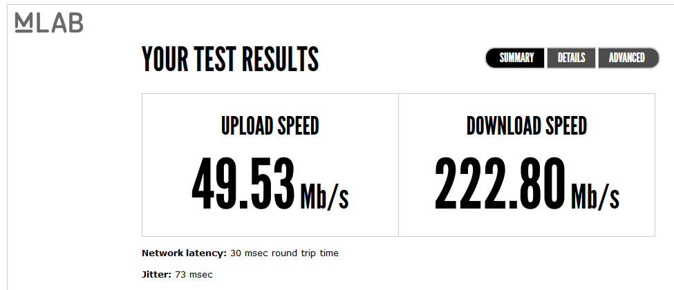 iinet cable broadband best intenet in ballaratat and australia victoria high mb per second upload and download mlab test