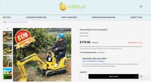 gaingrip ntfdvd.com excavator fake site scam